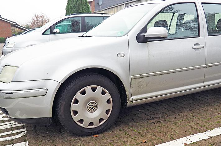 AHD Gebrauchtwagen Fahrzeugaufbereitung Lack vorher